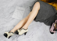 Load image into Gallery viewer, Women's Chunkey Heel Pumpssweet Bow High Heel Shoes