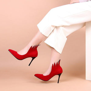 Sexy Pointed Toe Ultra-High Heels Shallow Mouth Shoes for Women