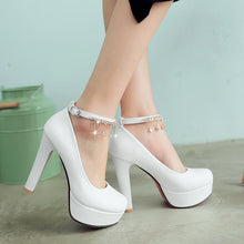 Load image into Gallery viewer, Women's Chunkey Heel Pumps  High Heel Platform Shallow Mouth Shoes