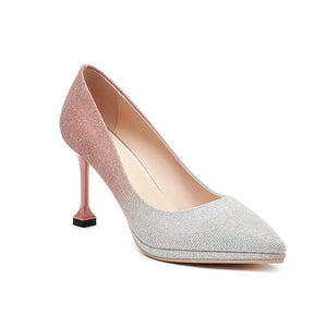 Women's Shallow Mouth Pointed Toe High Heeled Stiletto Pumps