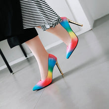 Load image into Gallery viewer, Rainbow High Heel Pointed Toe Women Pumps