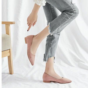 Woman's Casual Pointed Low Heeled Shoes
