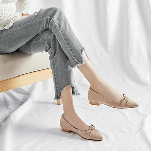 Woman Casual Pointed Shallow-mouthed Low Heeled Shoes