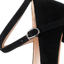 Load image into Gallery viewer, Woman's Buckle Chunkey Pumps Shallow Mouth Middle Heels Shoes