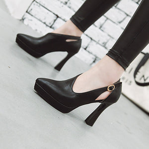 Super High Heeled Platform Block Heel