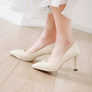 Kitten Heels High Heels Shallow-mouthed Pointed Toe Women Pumps