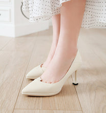 Load image into Gallery viewer, Kitten Heels High Heels Shallow-mouthed Pointed Toe Women Pumps
