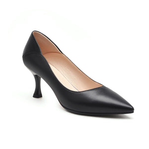 Pu Leather High-heeled Thin-heel Shallow-mouthed Pointed Shoe Woman