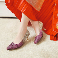 Load image into Gallery viewer, Pointed Toe High-heel Shallow-mouthed Women Pumps Kitten Stiletto Heel Shoes