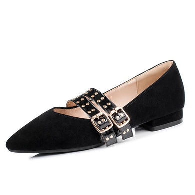 Woman Studded Low Heeled Shoes
