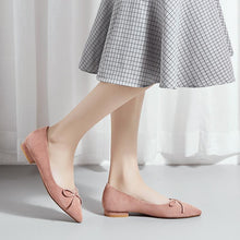 Load image into Gallery viewer, Woman Casual Pointed Shallow-mouthed Low Heeled Shoes