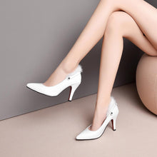 Load image into Gallery viewer, Pointed Toe High Heeled Ankle Strap Pumps
