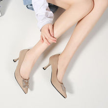 Load image into Gallery viewer, Pointed Toe High Heels Shallow Women Pumps Kitten Stiletto Heel Shoes