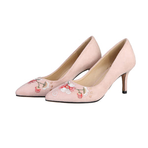 Pointed Toe High Heels Embroidery Shallow Women Pumps Stiletto Heel Shoes