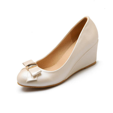 Casual Slope Heel High Heels Shallow Mouth Wedges Shoes for Women