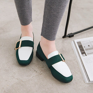 Woman's Color Matching Low Heels Shoes