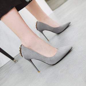 Pointed Toe Ultra-High Heels Size 31-46 Shallow Women Pumps Stiletto Heel Shoes