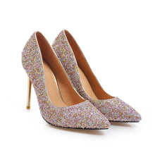 Load image into Gallery viewer, Sexy Pointed Toe Wedding Shoes Ultra-High Heels with Sequins