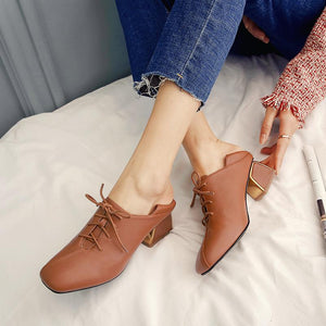 Woman's British Wind Genuine Leather Oxford Shoes