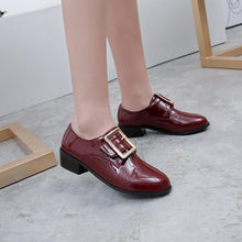 Load image into Gallery viewer, Woman's Bcukle  Low Heels Shoes