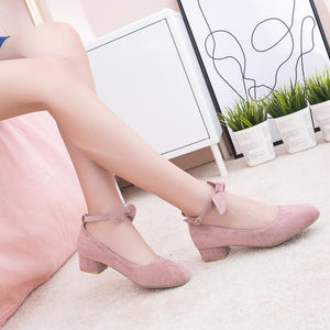 Women's Bowtie Low Heeled Shoes