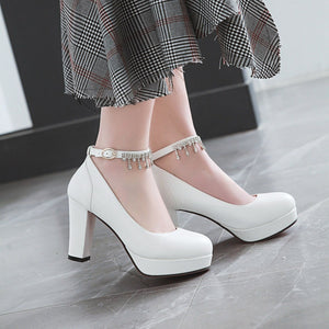 Women's Chunkey Heel Pumps Ultra High Heel Shoes