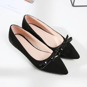 Girls Pointed Knot Flat Shoes