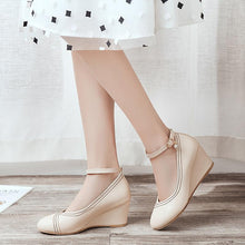 Load image into Gallery viewer, Casual Spring and Autumn Ankle Straps Women Wedges Shoes