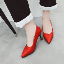 Load image into Gallery viewer, Pointed Toe KittenHigh Heelsed Women Pumps Stiletto Heel Shoes