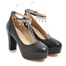 Load image into Gallery viewer, Women's Chunkey Heel Pumps Ultra High Heel Shoes