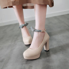 Load image into Gallery viewer, Women's Chunkey Heel Pumps Platform Ultra High Heel Buckle Shoes