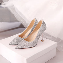 Load image into Gallery viewer, Women's Wedding Shoes Sequined High Heel Pumps