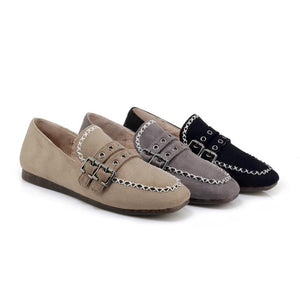 Girls Square Head Casual Flat Shoes