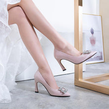 Load image into Gallery viewer, Pointed Toe High-heeled Shallow-mouthed Wedding Women Pumps Heel Shoes