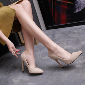 Pointed Toe Ultra-Spike Heel Shallow Women Pumps Stiletto Heel Shoes