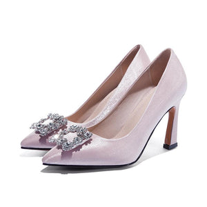 Pointed Toe High-heeled Shallow-mouthed Wedding Women Pumps Heel Shoes