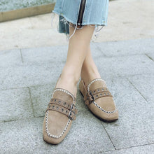 Load image into Gallery viewer, Girls Square Head Casual Flat Shoes