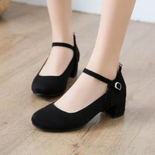 Load image into Gallery viewer, Mary Janes Middle Heeled Buckle Belt Women Pumps