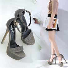 Load image into Gallery viewer, Super High Heel Large Size Platform Sandals