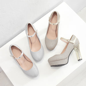 Super High-heeled Shallow-breasted Wedding Shoes Woman