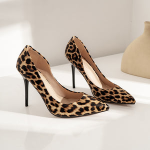 Pointed Toe Leopard  Printed Ultra-Spike Heel Women Pumps Stiletto Heel Shoes