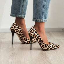 Load image into Gallery viewer, Pointed Toe Leopard  Printed Ultra-Spike Heel Women Pumps Stiletto Heel Shoes