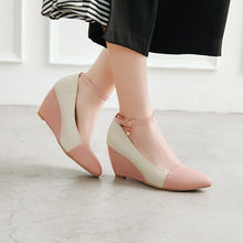 Load image into Gallery viewer, Casual Shallow Toe Ankle Straps Wedges Shoes Woman