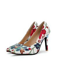 Load image into Gallery viewer, Pointed Toe Super High Heels Shallow Mouth Flower Printed Women Pumps Stiletto Heel Shoes