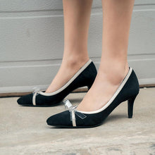 Load image into Gallery viewer, Pointed Toe High-heeled Knot Women Pumps Stiletto Heel Shoes