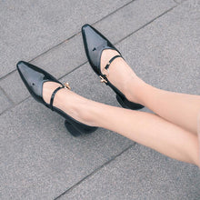 Load image into Gallery viewer, Pointed Toe Chunky Heel Pumps