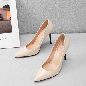 Pointed Toe Sexy Spring and Autumn Super High-heeled Spiked Women Pumps Stiletto Heel Shoes
