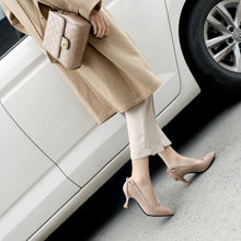Load image into Gallery viewer, Pointed Toe Shallow Female Woman Pumps Stiletto Mid Heel Shoes