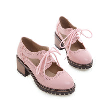 Load image into Gallery viewer, Cute Princess Middle Heeleded Shallow Mouth Women Chunkey Pumps