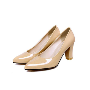 Patent Leather High Heeled Women Pumps
